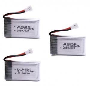 syma X5C X5C 1 X5 X5SC X5SW M68 K60 HQ 905 CX30 batterie battery 650mah 3pcs