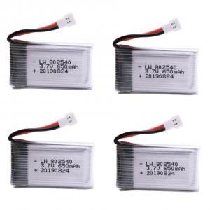 syma X5C X5C 1 X5 X5SC X5SW M68 K60 HQ 905 CX30 batterie battery 650mah 4pcs