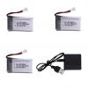 syma X5C X5C 1 X5 X5SC X5SW M68 K60 HQ 905 CX30 batteria batteria 650 mah caricatore 3 pezzi