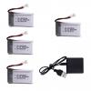 syma X5C X5C 1 X5 X5SC X5SW M68 K60 HQ 905 CX30 batterie battery 650mah charger 4pcs