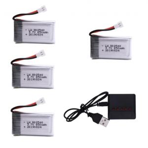 syma X5C X5C 1 X5 X5SC X5SW M68 K60 HQ 905 CX30 batteria batteria 650 mah caricatore 4 pezzi