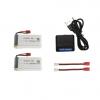 syma X5HC H5HW battery batterie charger chargeur usb 1800mah 2pcs