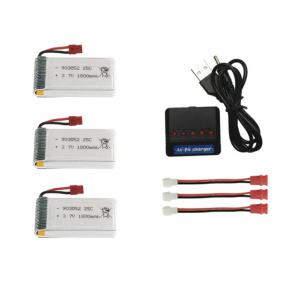 syma X5HC H5HW battery batterie charger chargeur usb 1800mah 3pcs
