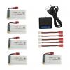 syma X5HC H5HW battery batterie charger chargeur usb 1800mah 5pcs