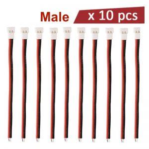 10 Cables Molex 51005 Connecteur 2.0mm Batterie Chargeur 1S Lipo pour Syma X5C Hubsan X4 MALE