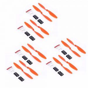 12 Helices 10x4.5 1045 1045R pour DJI F450 F550 Moteur A2212 kv1000 ORANGE
