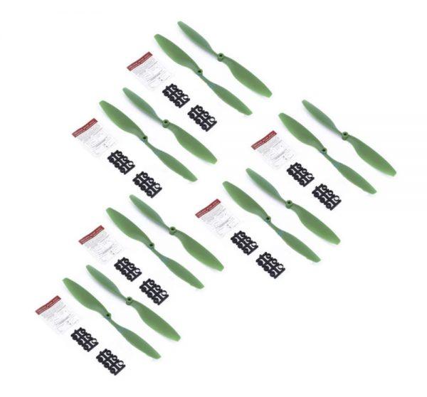 12 Helices 10x4.5 1045 1045R pour DJI F450 F550 Moteur A2212 kv1000 VERT