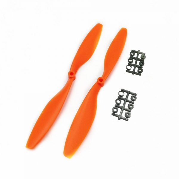 2 Helices 1045 1045R 10x4.5 CW Clockwise CCW Counter Clockwise pour DJI F450 500 F550 ORANGE