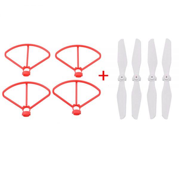 Pack 4 Hélices Montage Rapide 4 Cadres de Protection Rouges pour Xiaomi FIMI A3