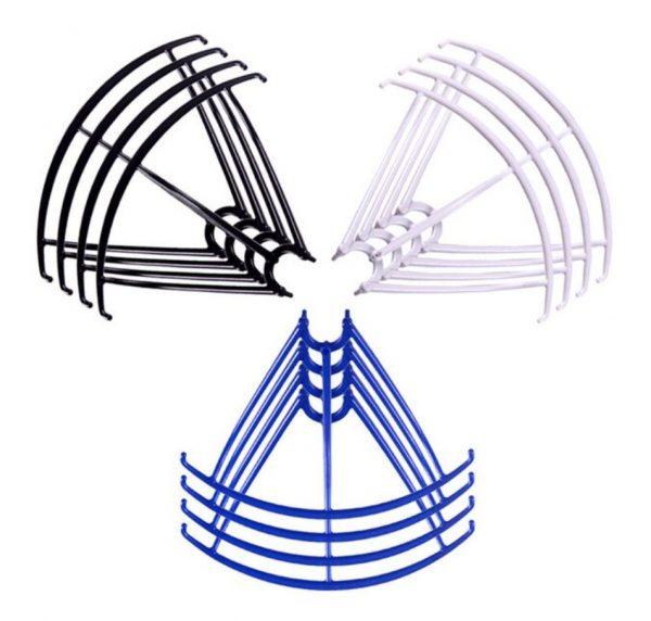 12 Cadres de Protection Helices 3 Sets pour Syma X5 X5C X5C 1 X5SC X5SW NOIR BLANC BLEU