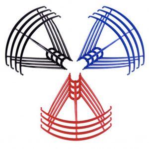 12 Propeller Protective Frames 3 Sets for Syma X5 X5C X5C 1 X5SC X5SW BLACK BLUE RED