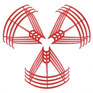 12 Propeller Protective Frames 3 Sets for Syma X5 X5C X5C 1 X5SC X5SW RED