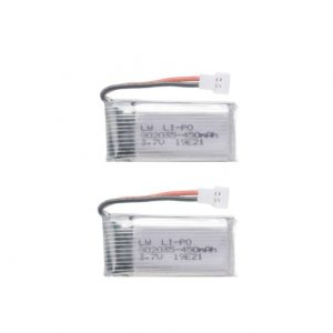 2 batterie 3,7 V 450 mAh per Hubsan H107 JJRC H31 H6C Eachine E33 E33C Wltoys U816A V252 KY101