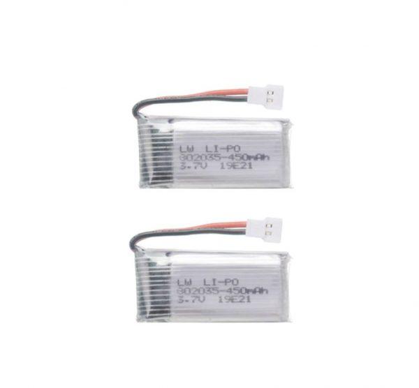 2 Batteries 3.7V 450mAh pour Hubsan H107 JJRC H31 H6C Eachine E33 E33C Wltoys U816A V252 KY101