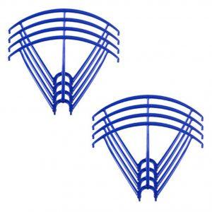 8 Propeller Protective Frames 2 Sets for Syma X5 X5C X5C 1 X5SC X5SW BLUE