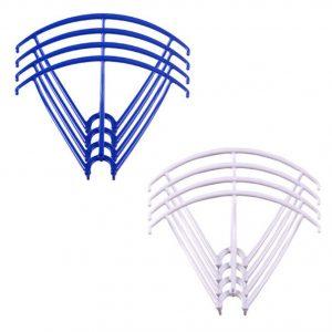 8 marcos de protección de hélice 2 juegos para Syma X5 X5C X5C 1 X5SC X5SW AZUL BLANCO