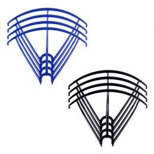 8 marcos protectores de hélice 2 juegos para Syma X5 X5C X5C 1 X5SC X5SW AZUL NEGRO