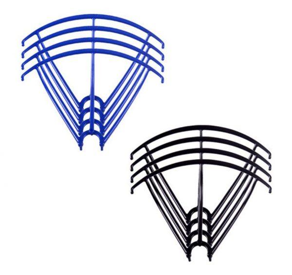 8 Cadres de Protection Helices 2 Sets pour Syma X5 X5C X5C 1 X5SC X5SW BLEU NOIR