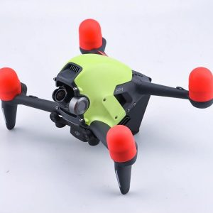 4 Red Silicone Motor Protection Covers for DJI FPV