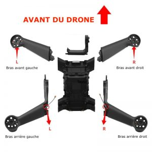 Front and Rear Arm for DJI FPV Combo IMG2