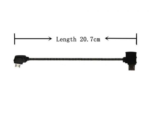 Cavo dati remoto in nylon morbido per DJI Mavic Pro Platinum Air Mini 2 Pro Zoom ANDROID STANDARD MICRO USB 20,7 cm