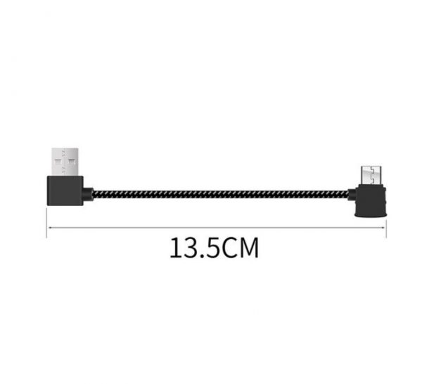 Cable Data Telecommande Souple en Nylon pour FIMI X8 SE FIMI X8 SE 2020 ANDROID STANDARD MICRO USB
