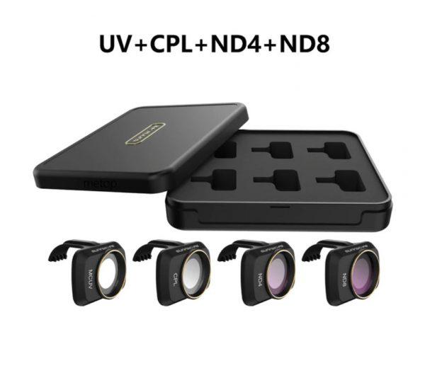 Ensemble Filtres Lentille Objectif Caméra UV CPL ND4 ND8 pour DJI Mavic Mini 2
