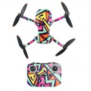 Kit Autocollants Stickers Protecteurs Drone Télécommande Waterproof en PVC pour Mavic Mini 2 ART PEINTURE