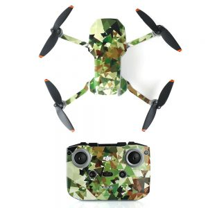 Kit Autocollants Stickers Protecteurs Drone Télécommande Waterproof en PVC pour Mavic Mini 2 CAMOUFLAGE 3D