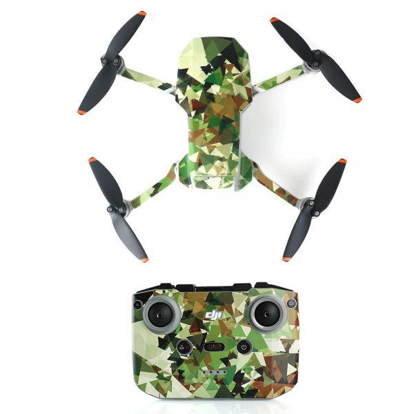 Kit adesivi protettivi per telecomando con drone in PVC impermeabile per Mavic Mini 2 3D CAMOUFLAGE