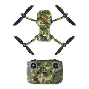 Kit Autocollants Stickers Protecteurs Drone Télécommande Waterproof en PVC pour Mavic Mini 2 CAMOUFLAGE VERT