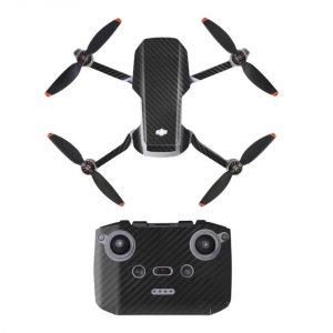 Kit Autocollants Stickers Protecteurs Drone Télécommande Waterproof en PVC pour Mavic Mini 2 CARBONE NOIR