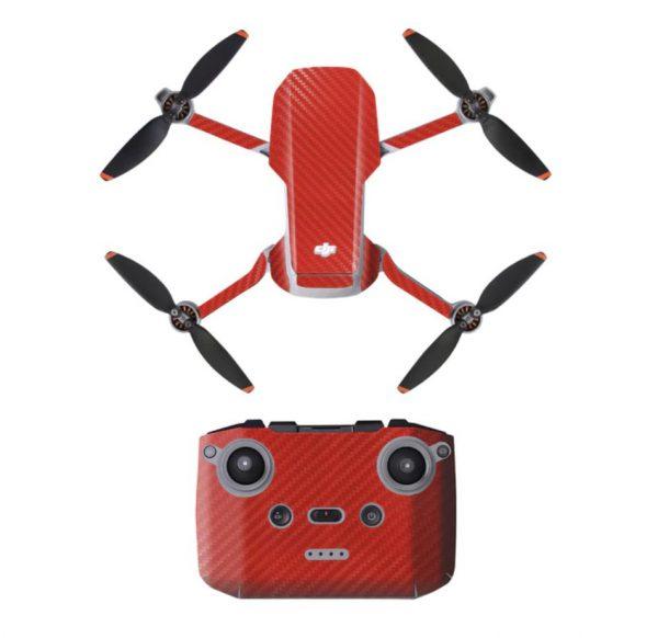 Wasserdichtes PVC-Drohnen-Fernbedienungs-Aufkleber-Aufkleber-Kit für Mavic Mini 2 RED CARBON