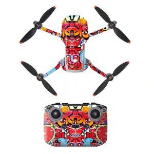 Kit Autocollants Stickers Protecteurs Drone Télécommande Waterproof en PVC pour Mavic Mini 2 GRAFFITI