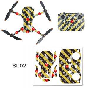 Kit Autocollants Stickers Protecteurs Drone Télécommande Waterproof en PVC pour Mavic Mini 2 IMG2