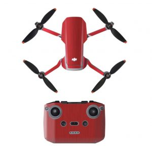 Kit Autocollants Stickers Protecteurs Drone Télécommande Waterproof en PVC pour Mavic Mini 2 ROUGE METALLIQUE