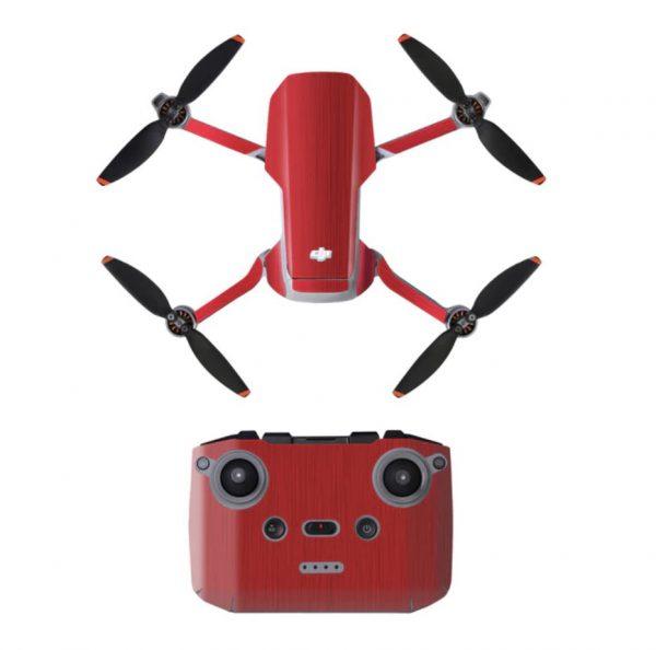 Kit adesivi protettivi per telecomando con drone in PVC impermeabile per Mavic Mini 2 ROSSO METALLICO