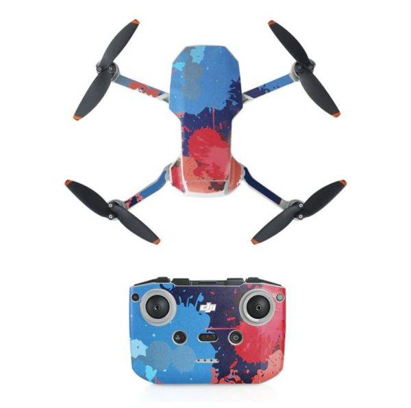 Kit Autocollants Stickers Protecteurs Drone Télécommande Waterproof en PVC pour Mavic Mini 2 TACHE DE PEINTURE 2