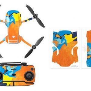 Kit Autocollants Stickers Protecteurs Drone Telecommande Waterproof en PVC pour Mavic Mini ART PEINTURE 2