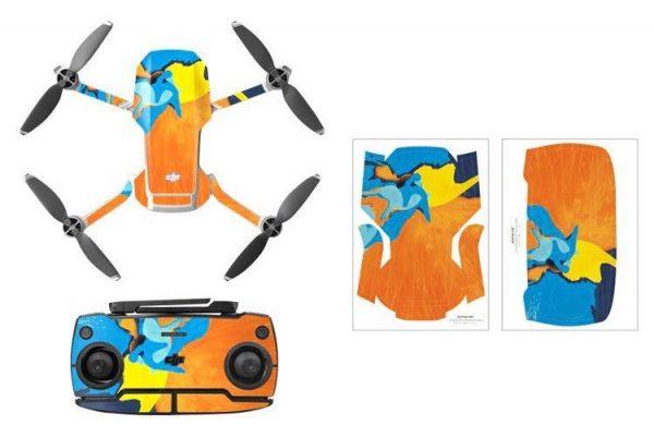 Kit adesivi protettivi per drone con telecomando in PVC impermeabile per Mavic Mini ART PAINTING 2