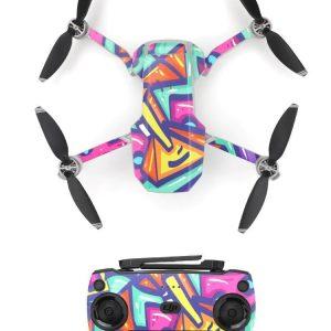 Kit Autocollants Stickers Protecteurs Drone Telecommande Waterproof en PVC pour Mavic Mini ART PEINTURE