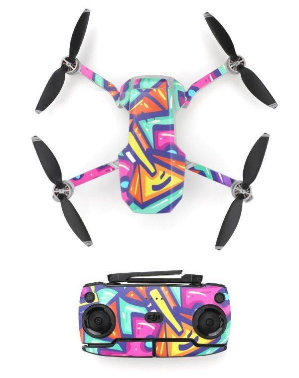 Kit adesivi protettivi per droni con telecomando in PVC impermeabile per Mavic Mini PAINTING ART