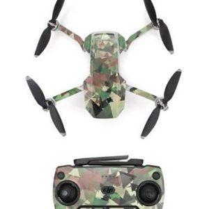 Kit Autocollants Stickers Protecteurs Drone Telecommande Waterproof en PVC pour Mavic Mini CAMOUFLAGE 3D