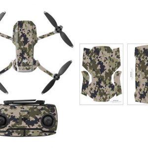 Kit Autocollants Stickers Protecteurs Drone Telecommande Waterproof en PVC pour Mavic Mini CAMOUFLAGE DESERT