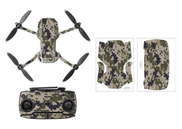 Kit adesivi protettivi per droni con telecomando in PVC impermeabile per Mavic Mini CAMOUFLAGE DESERT