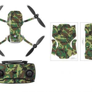 Kit Autocollants Stickers Protecteurs Drone Telecommande Waterproof en PVC pour Mavic Mini CAMOUFLAGE VERT