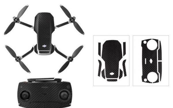 Kit adesivi protettivi per drone con telecomando in PVC impermeabile per Mavic Mini CARBON BLACK