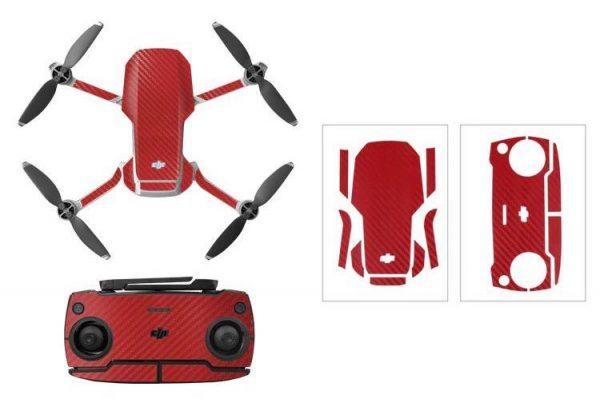 Kit adesivi protettivi per droni con telecomando in PVC impermeabile per Mavic Mini CARBON RED