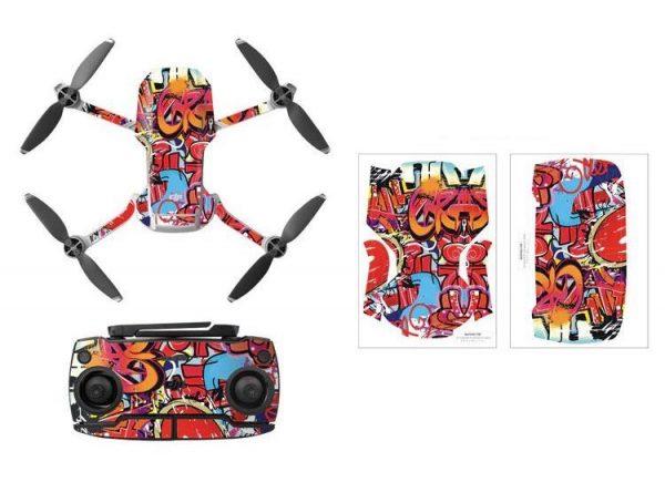 Kit adesivi protettivi per droni con telecomando in PVC impermeabile per Mavic Mini GRAFFITI
