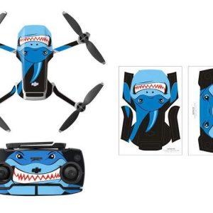 Wasserdichtes PVC-Fernbedienungs-Drohnenschutz-Aufkleber-Kit für Mavic Mini BLUE SHARK